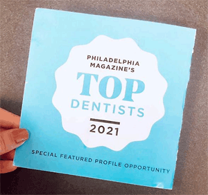 Top Dentists Philly Mag 2021 Award